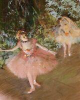 Ballet Dancer on Stage Edgar Degas Fine Art CANVAS Print Repro Home Decor 8x10