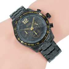 Guess Herrenuhr Chronograph W0969G2 Fleet Schwarz Edelstahl Armband