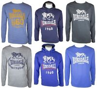 New Mens Lonsdale Long Sleeve Hoodies Regular Fit Top T-Shirt Size UK S M L XL