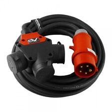 Cee Alargador 10m Schuko 3-Wege H07RN-F 5x2, 5mm Cable Corriente 9221
