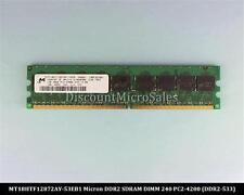 Micron MT18HTF12872AY-53EB1 DDR2 1GB PC2-4200 ECC 533Mhz RAM Memory