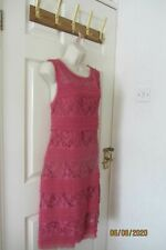 Phase Eight DRESS Red/pink Lace layer Summer hols Cruise Wedding Party Occasion