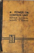 R.G. LeTOURNEAU, Inc Power Control Unit Repair Manual Model T Series