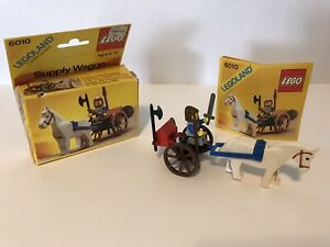 Lego Castle Set 6010 Supply Wagon Complete with Instructions And Box Vintage