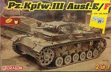 1/35 German Pz.Kpfw. III Ausf. E/F (2 in 1) Smart Kit -- NEW DRAGON DML 6944