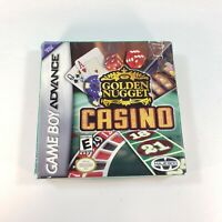 Golden Nugget Casino (Nintendo Game Boy Advance, 2004) Complete in Box Tested
