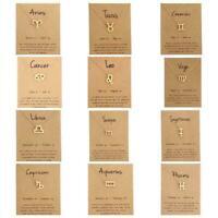 Constellation Symbol Zodiac Signs Pendant Necklace Choker Women Chain Jewel C4C2