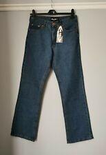 No Bull Work Wear Women's Blue Jeans Medium Rise Size 12 L30 Bootcut