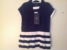 Little Girls Tommy Hilfiger Dress SZ 12 Months NWT Reg. $39 Navy & White