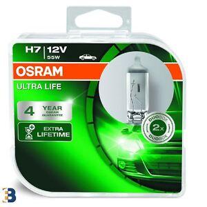 2x OSRAM H7 Ultra Life 12V 55W PX26d 64210ULT-HCB Headlight Bulbs Twin Pack