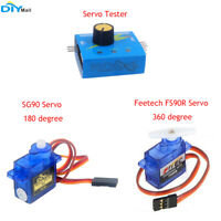 Feetech FS90R 360 Degree Continuous Rotation Servo/SG90 180 Degree Servo/Tester