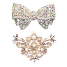 Muchas mujeres 2 pedrería zapato Charms clip novia puntas zapatos decoración joyas