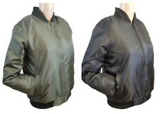 Ladies Classic Harrington MA1 Padded Bomber Jacket Pilot Vintage Zip Up Biker