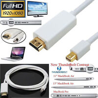 6ft Thunderbolt Mini DisplayPort DP to HDMI Adapter Cable for Mac Macbook RF