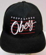4fe1be61ab1 OBEY PROPAGANDA Clothing Streetwear Advertising BLACK RED WHITE Snapback  Hat Cap