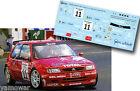 Decal 1:43 Iñaki Goiburu - CITROEN SAXO KIT CAR - Rally El Corte Ingles 1999