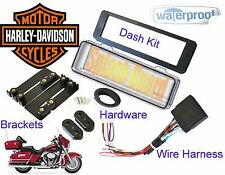 HARLEY DAVIDSON FLHT Mount Radio Stereo Install Dash Kit w/Harness SPLASHGUARD