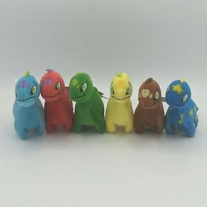 McDonald's Neopets Chomby Lot Starry Brown Blue Red Yellow Green with Tags