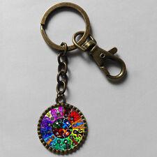 Homestuck Keyring God Mandala Key Chain Art Glass Pendant cosplay Cute Keychain