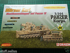 German MORSER KARL + PANZER IV #28 - Dragon 1/144 scale model kit army tank war