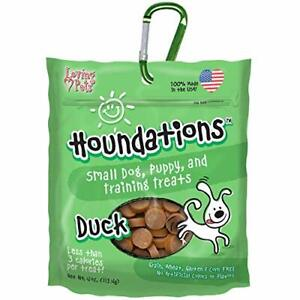 Loving Pets Houndations Duck Training Treats Dog Treat, 4 Oz/One Size