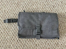 Baby Carrying Diaper Changing Pad Mat Waterproof Folding Station Clutch Bag Gray