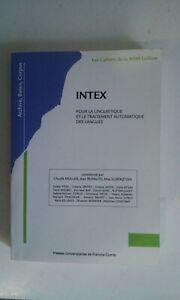 INTEX pour la linguistique et le traitement automatique des langues tbe