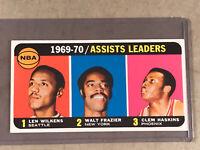 1970 TOPPS #6 ASSISTS LEADERS LEN WILKENS / WALT FRAZIER / CLEM HASKINS HOF EX