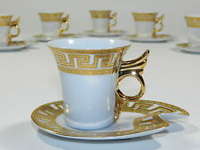 Art Deco Cup and Saucer Set Of 6
