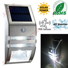 Solar Powered LED Security Wall Light PIR Motion Sensor Outdoor Garden Patio NEW
