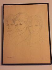 SOUNGOUROFF Les 3 MINETS DESSIN MINE ART RUSSE PORTRAIT GAY INTEREST 49x63 CM