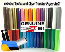 Oracal 651 Vinyl 6 Color Starter Kit With Transfer Paper And 3M Install Tools