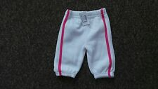 Cudlesome 3 pairs elasticated 1 white 1 pink 1 Red trackpants  Age:0-3 months