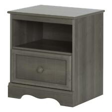 South Shore Nightstand 1 Drawer Storage Wooden Knob Gray Maple Finish Furniture
