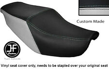 BLACK & LIGHT GREY VINYL CUSTOM FITS HONDA CBR 1000 F 87-88 DUAL SEAT COVER ONLY