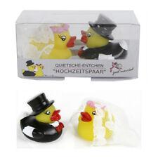 """Quitsche-Ente """"Hochzeitspaar"""" 2 Entchen Badeentchen Brautpaar"""