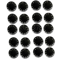 20 Pcs Black Guitar Speed Control Knob for Guitar Parts Replacement