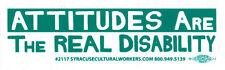 Attitudes Are The Real Disability - Magnetic Small Bumper Sticker / Decal Magnet