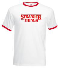 STRANGER THINGS T-Shirt Inspired Ringer tee Hawkins 1980s Retro TV  m