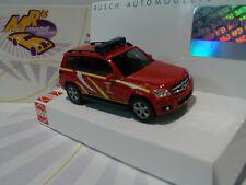 """Busch 49769 # Mercedes-Benz GLK-Klasse """" Feuerwehr """" Baujahr 2011 in rot 1:87"""