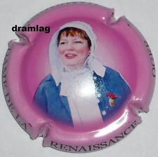 Capsule de Champagne : Dame de LA RENAISSANCE ! grand portrait ,  rose foncé !
