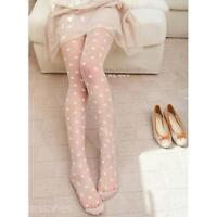 Women's White retro Sexy sheer Lace Big dot Pantyhose Stockings Tights Dot Slim