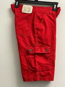 "EUC LEVI'S Big Boys' Size 14 Reg 29"" Waist Cargo Shorts Red 11"" Inseam Pants"