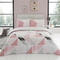 Luxury Mila Pink Duvet Cover Bedding Set with Pillow Cases, All Sizes