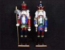 Gisela Graham Wooden Sequin Nutcracker Soldier Christmas Home Display Decoration