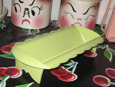 Vintage Hard Plastic BLISSCRAFT OF HOLLYWOOD Green Cracker Holder Dish