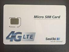 New SaskTel Micro Sim Card 4G LTE Canada Saskatchewan Travel