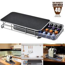 For Nespresso 40 Coffee Capsule Pods Holder Stand Drawer Insert Rack Storag
