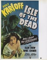 """2003 Vintage Horror """"ISLE OF THE DEAD """" MINI POSTER   Art  Plate Lithograph"""