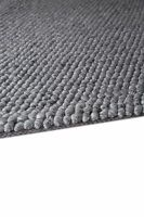 PLAIN Modern Handwoven HEAVY CHUNKY Looped LOOPY LOP03 Nat. GREY Plantation Rug